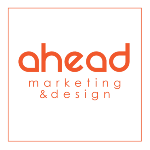 Logo Ahead marketing & design en flat et responsive design